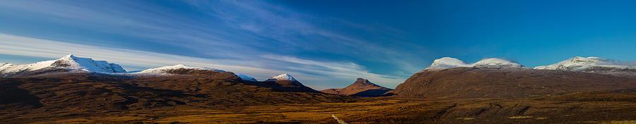 Cul Beag Photograph - Mountains Of Assynt Panorama by Derek Beattie