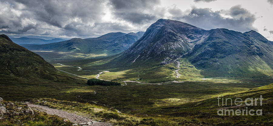 Mountains Of Glencoe From The Devils Staircase In Scotland