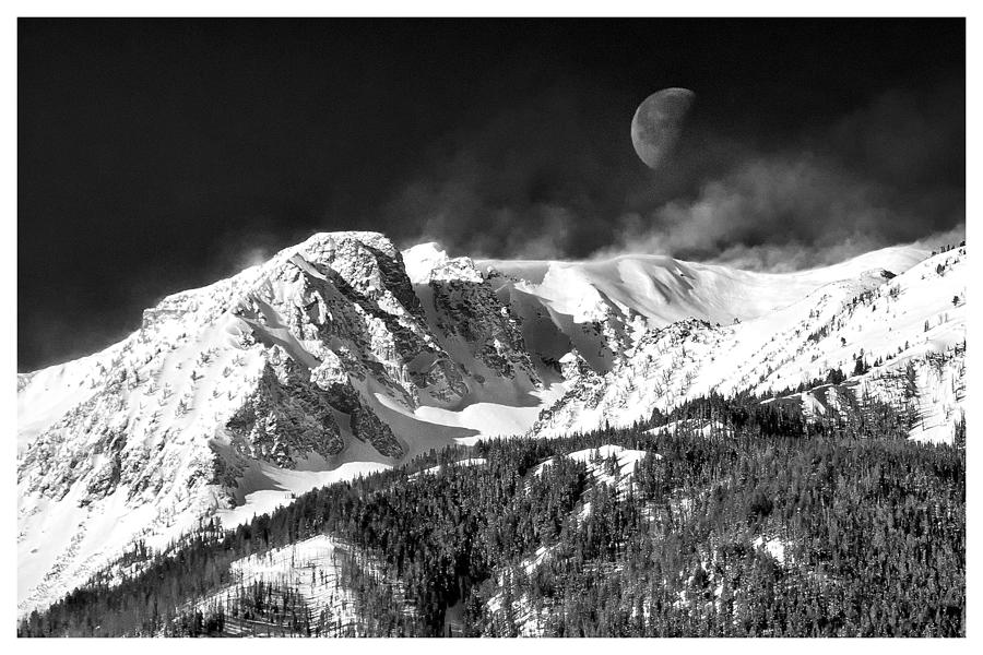 Mountains Of The Moon Photograph - Mountains Of The Moon by Adele Buttolph