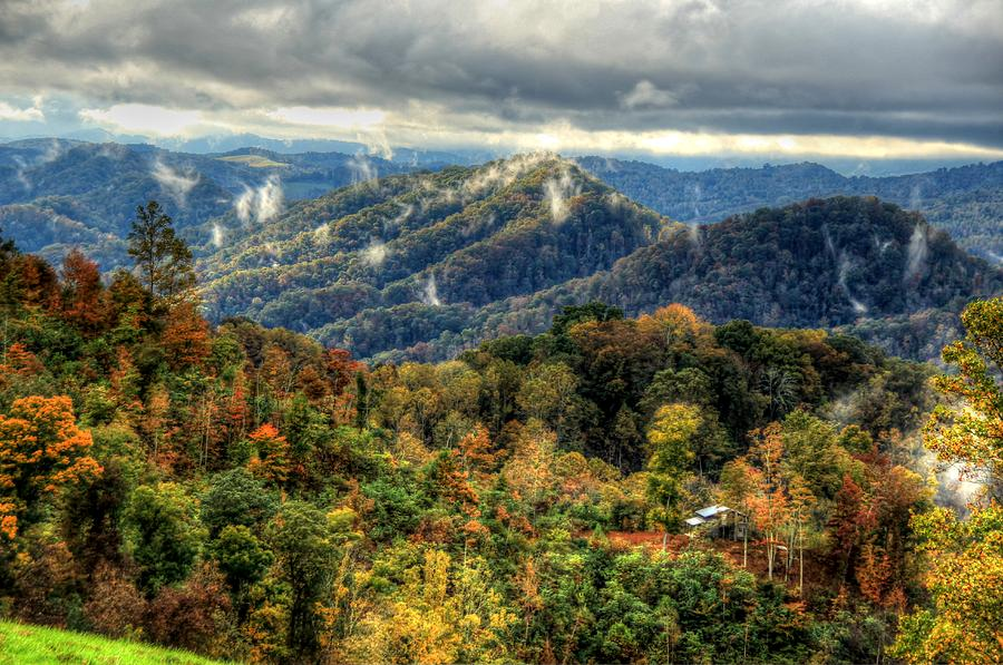 Vistas Photograph - Mountains Smoking by Heavens View Photography