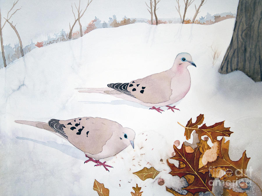 Mourning Doves by Laurel Best