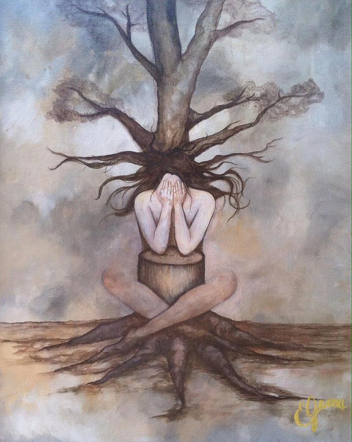 Nature Painting - Mourning Nature by Estela Gama