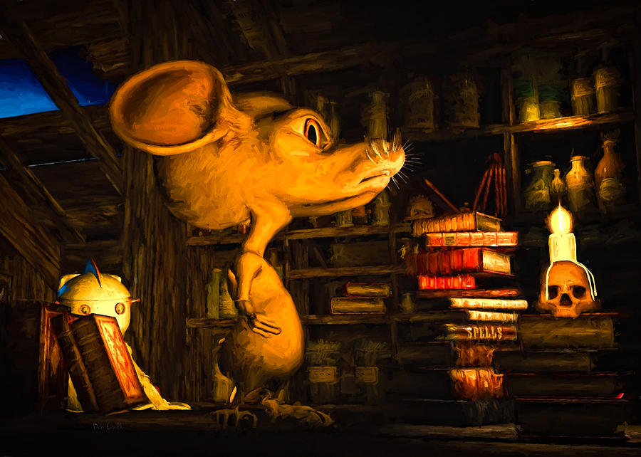 Attic Painting - Mouse In The Attic by Bob Orsillo
