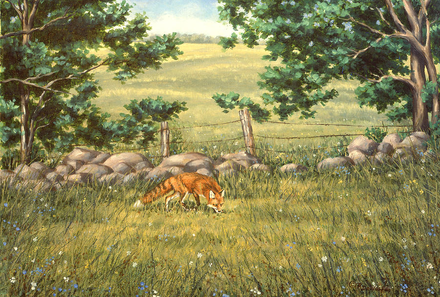 Red Fox Painting - Mouse Patrol by Richard De Wolfe