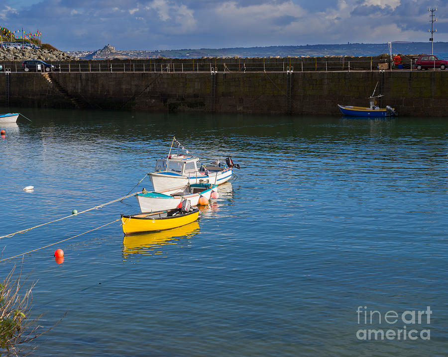 Mousehole Photograph - Mousehole Cornwall by Louise Heusinkveld