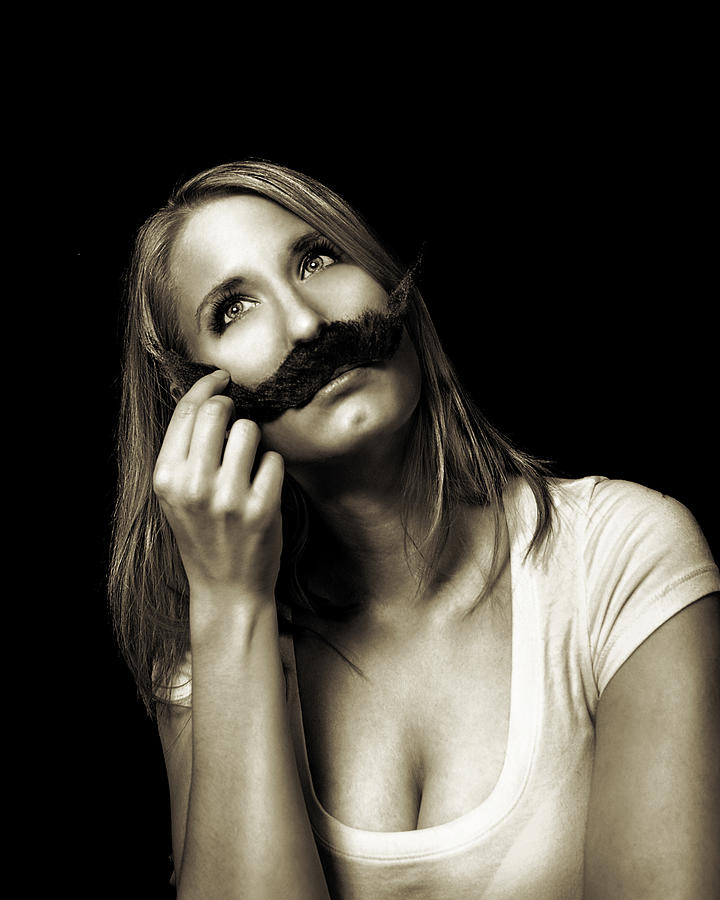 Moustache Photograph - Movember Seventh by Ashley King