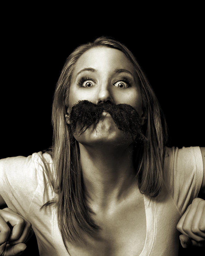 Funny Photograph - Movember Twelfth by Ashley King