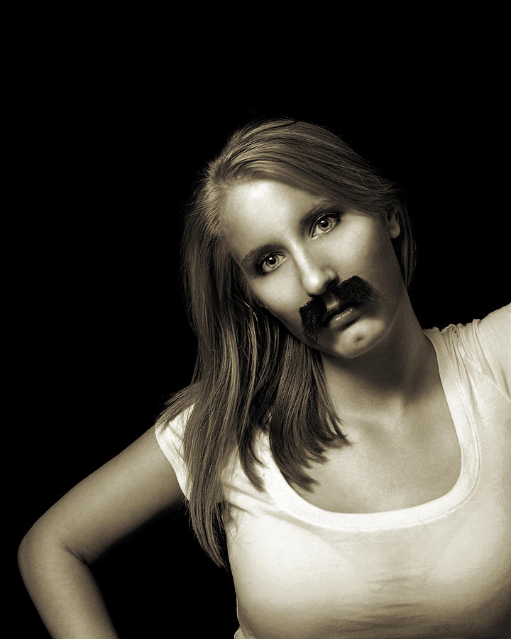 Moustache Photograph - Movember Twentyfourth by Ashley King