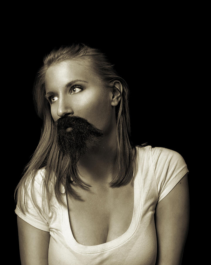 Moustache Photograph - Movember Twentyninth by Ashley King