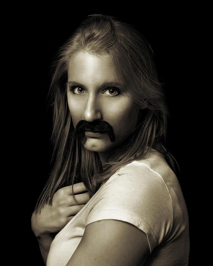 Moustache Photograph - Movember Twentythird by Ashley King