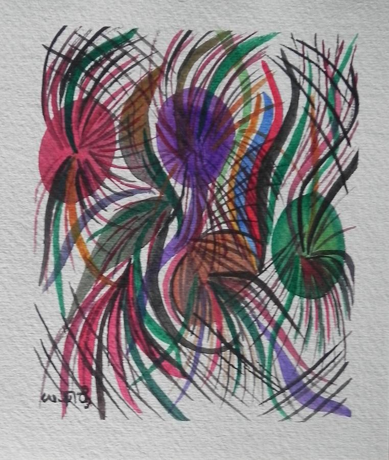 Watercolor Painting - Movement by Usha Rai