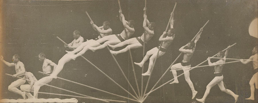 Grey Photograph - Movements in Pole Vaulting by Etienne-Jules Marey