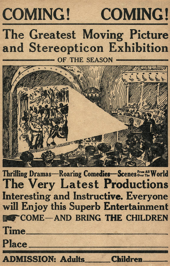 1909 Painting - Movie Theater, C1909 by Granger