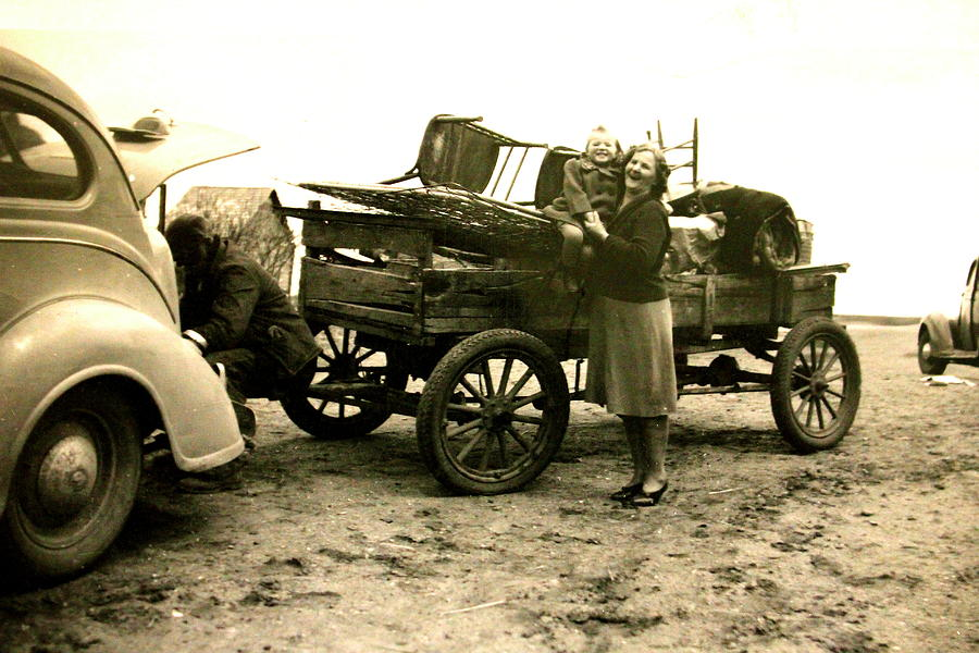 Antique Cars Photograph - Moving Day by Mavis Reid Nugent