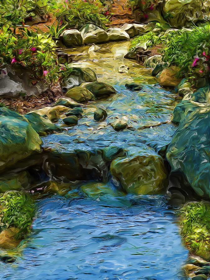 River Digital Art - Moving Forward by Cary Shapiro