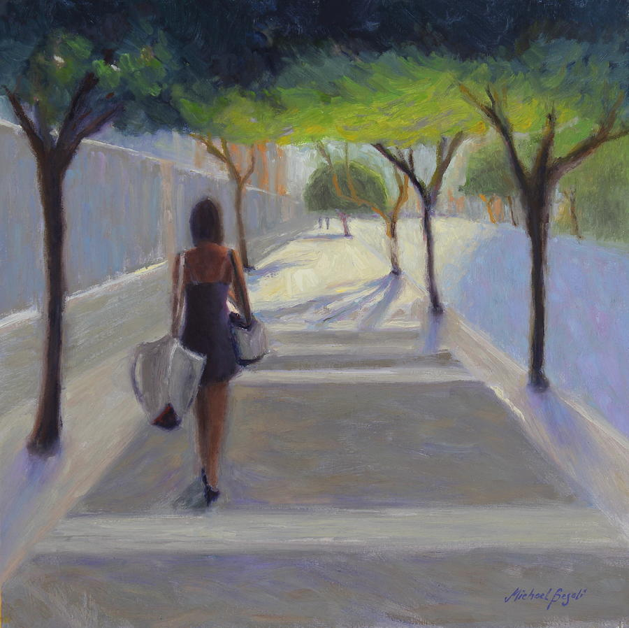 Working Woman Painting - Moving Forward by Michael Besoli