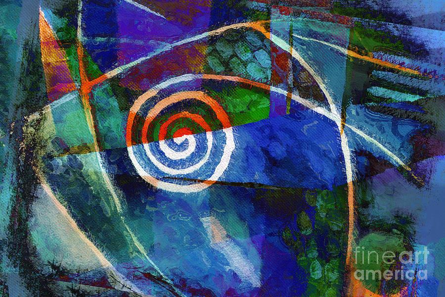 Spiral Mixed Media - Moving Night by Lutz Baar