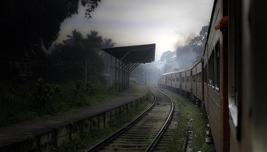 Train Photograph - Moving Train by Sanjeewa Marasinghe