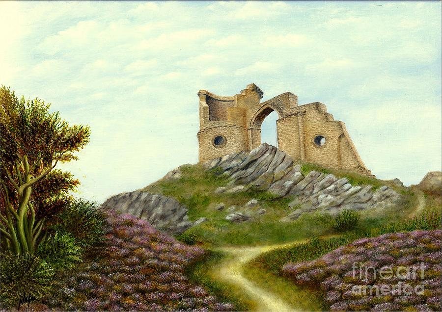 Mow Cop Painting - Mow Cop Castle by Nasar Khan