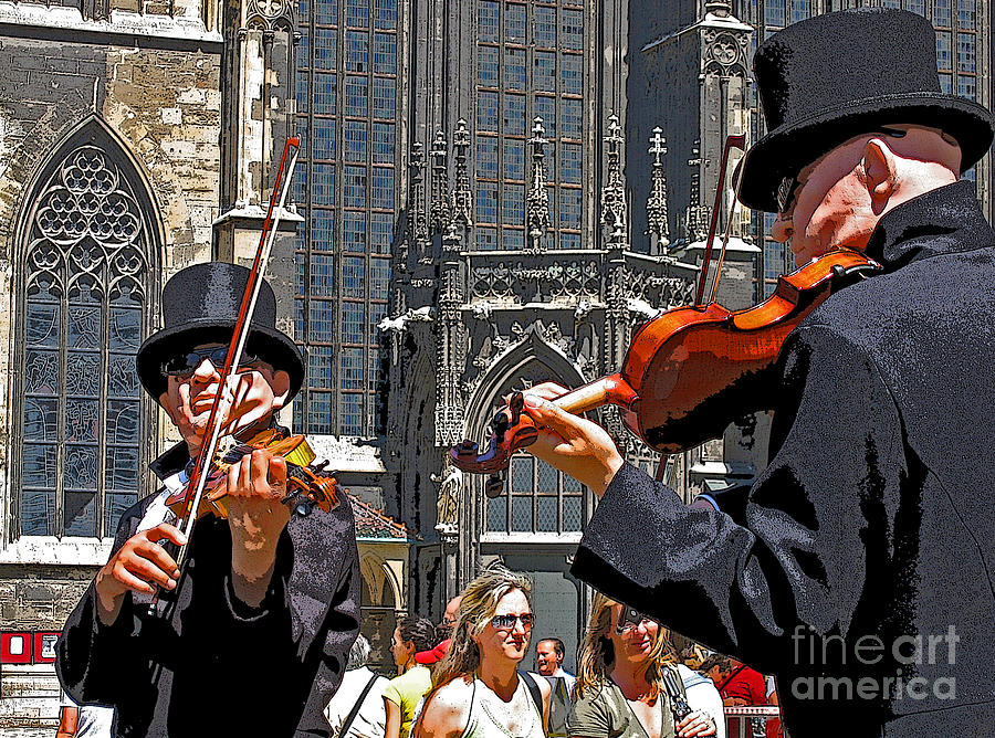 Buskers Photograph - Mozart In Masquerade by Ann Horn