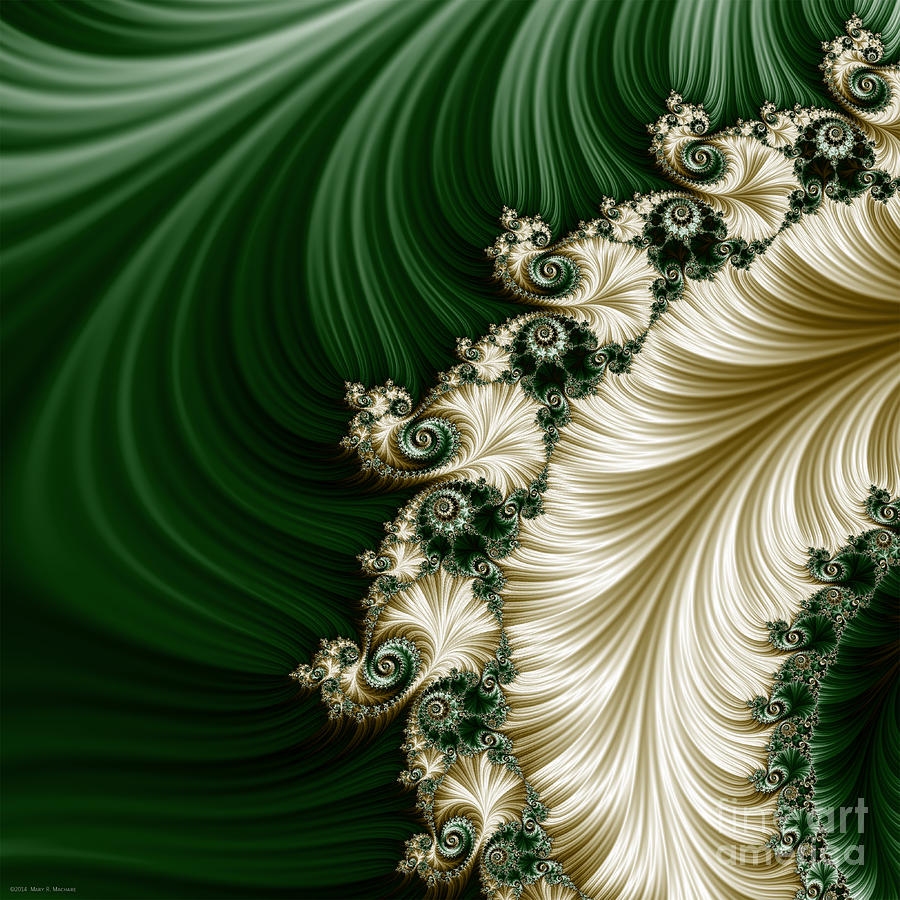 Fractal Photograph - Mozarts Feathers by Mary Machare