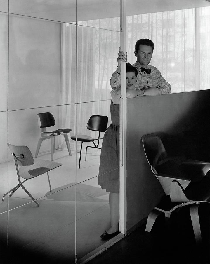 Mr And Mrs Charles Eames At The Museum Of Modern Photograph by George Platt Lynes