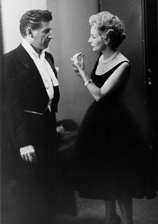 Mr. And Mrs. Leonard Bernstein Photograph by Henry Clarke