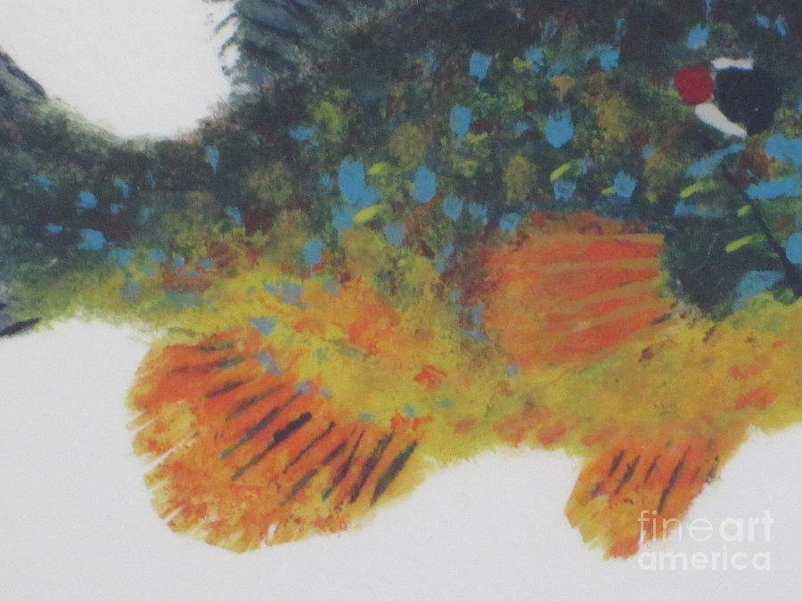 Sunfish Painting - Mr. Big Detail by David Maher