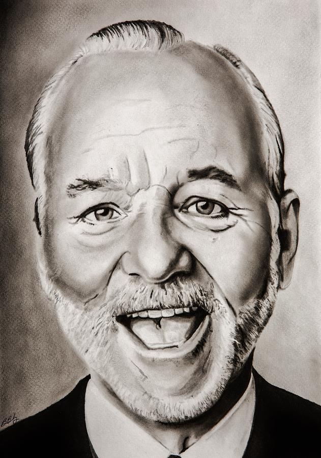 Bill Painting - Mr Bill Murray by Brian Broadway