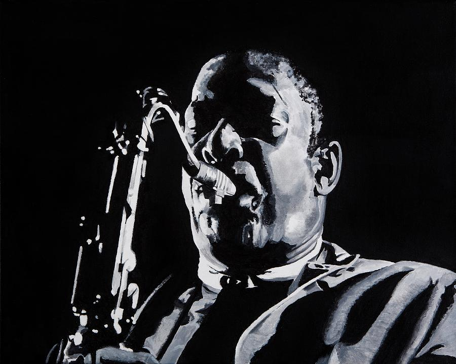 John Painting - Mr Coltrane by Brian Broadway