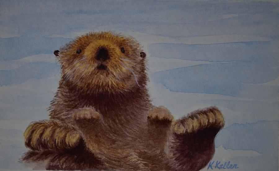Sea Otter Painting - Mr. Curious by Kathleen Keller