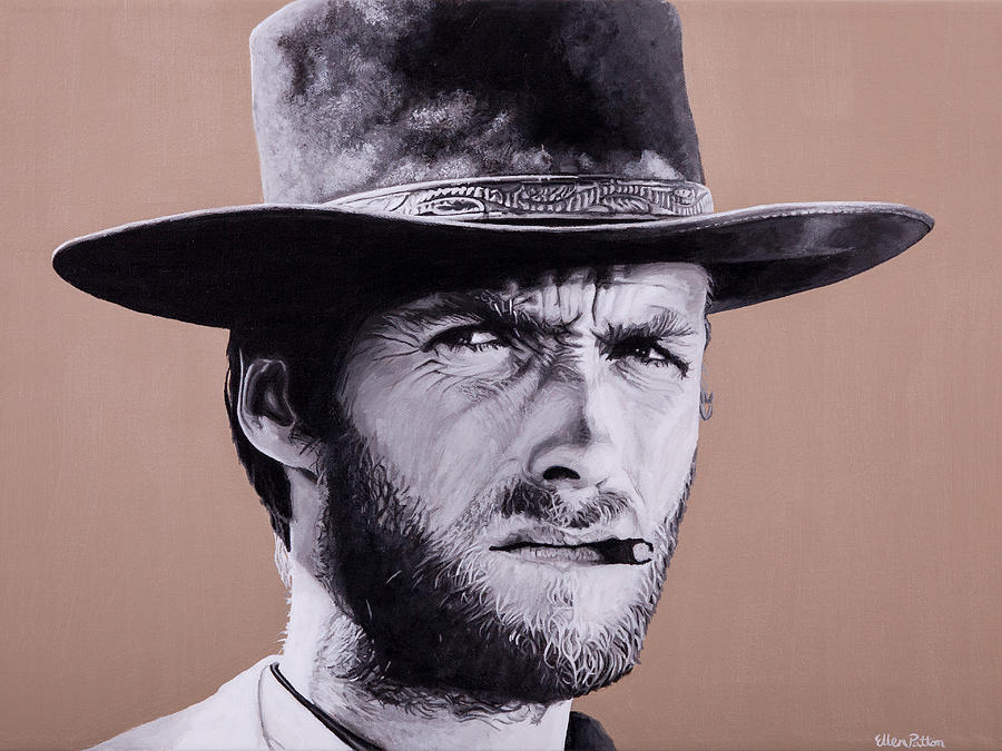 Mr. Eastwood Painting by Ellen Patton