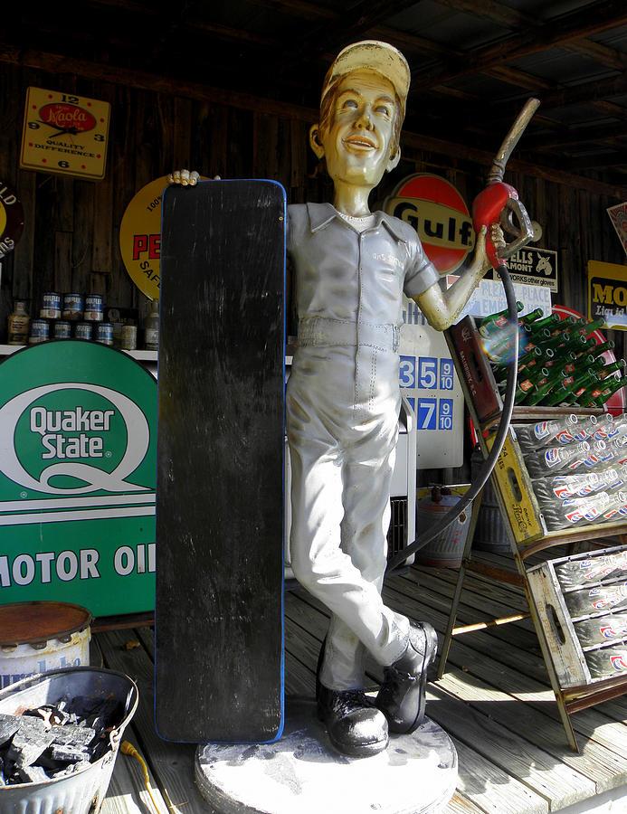 Mr Gas Pumper Photograph - Mr Gas Pump Mechanic by Kim Galluzzo Wozniak