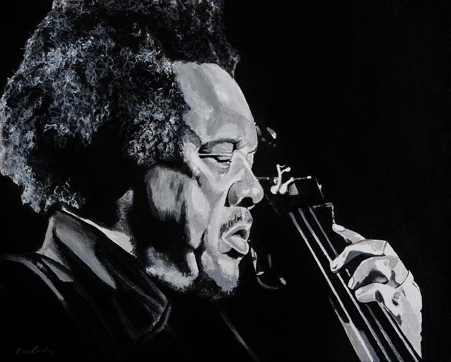 Charles Painting - Mr Mingus by Brian Broadway