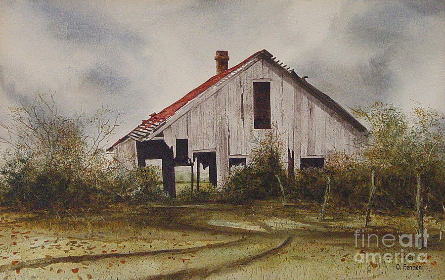Mr Munker S Old Barn Painting By Charles Fennen