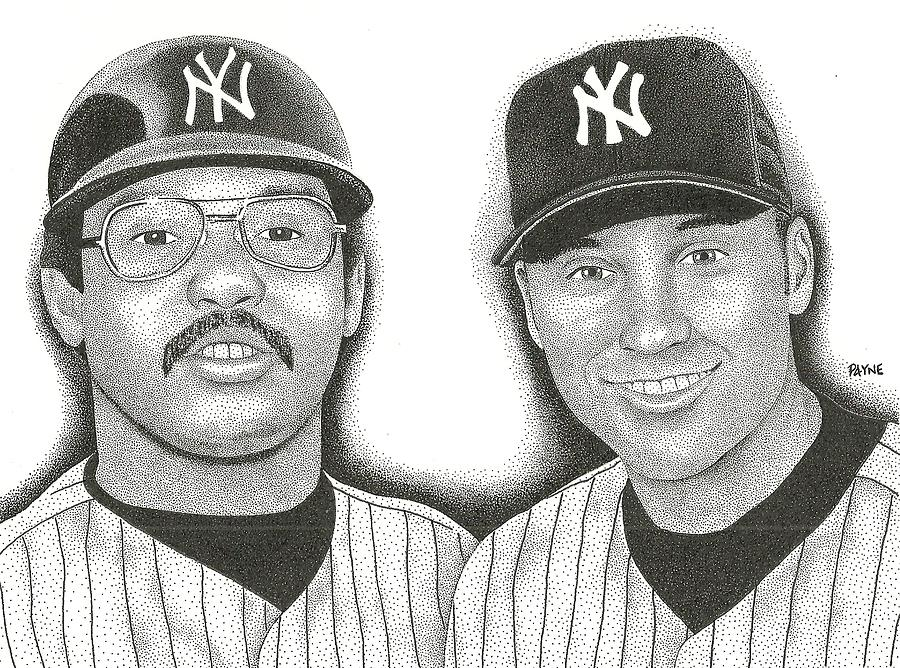 Reggie Jackson Painting - Mr. October And Mr. November by Rob Payne