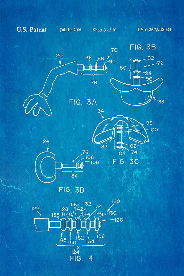 Famous Photograph - Mr Potato Head 2 Patent Art 2001 Blueprint by Ian Monk