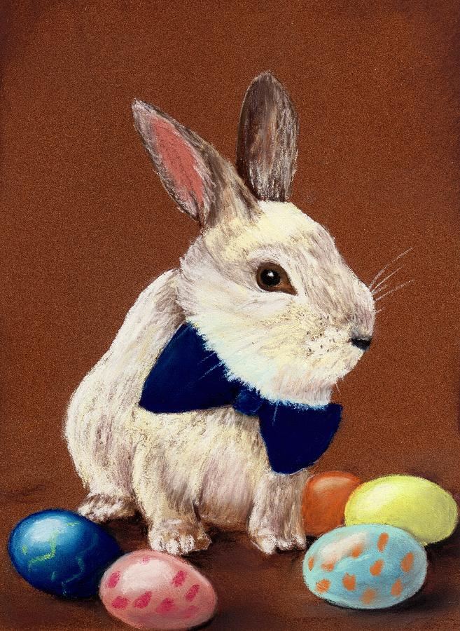 Rabbit Painting - Mr. Rabbit by Anastasiya Malakhova