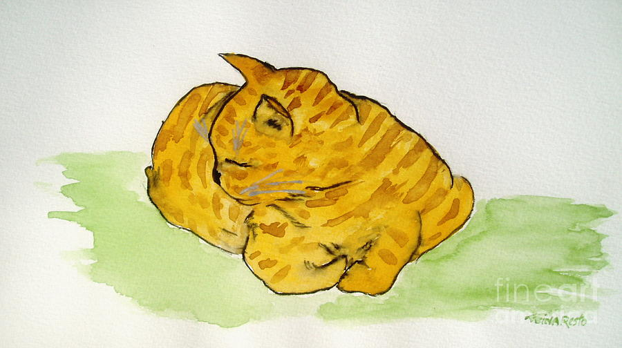Mr. Yellow Painting by Reina Resto