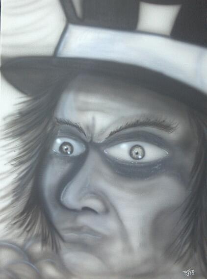 Tophat Painting - Mr.hatter by Richard Gardner