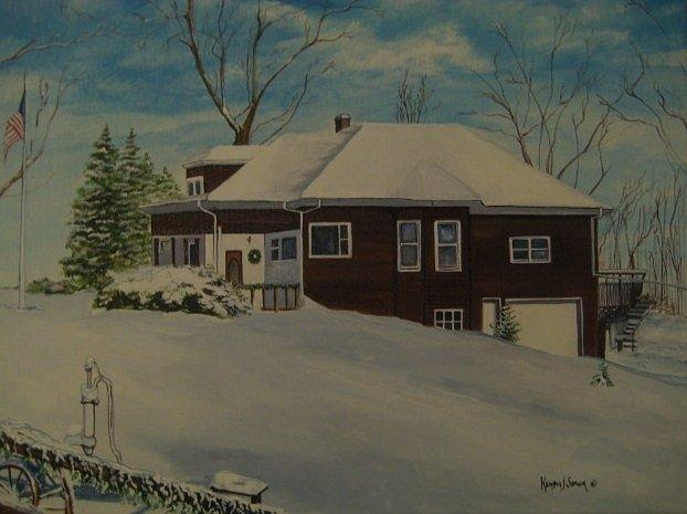 House Painting - Mrs. Bs House by Kendra Sorum