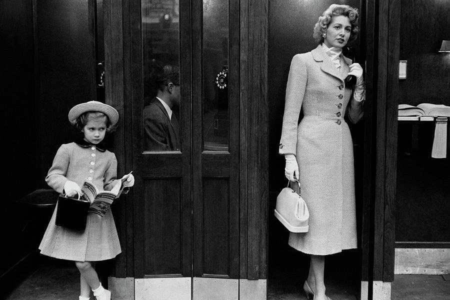 Mrs. Jeffrey Roche And Her Daughter Wearing Tweed Photograph by Frances McLaughlin-Gill