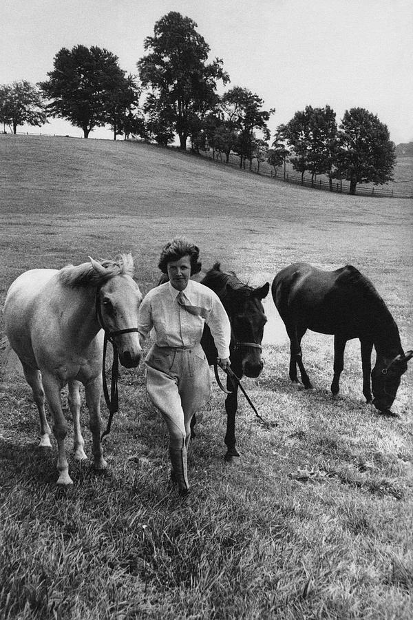 Mrs John West On Her Farm At Malvern Photograph by Toni Frissell