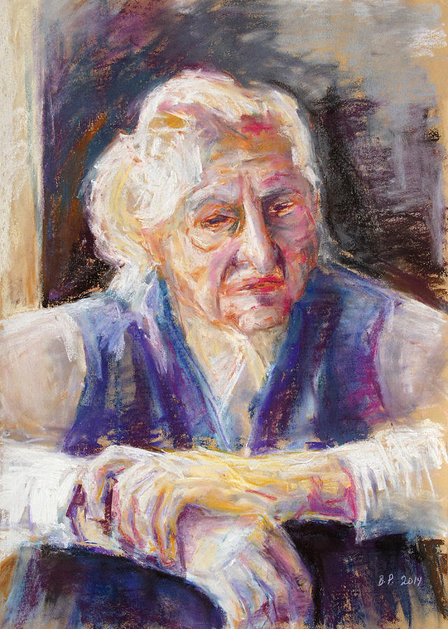Lady Painting - Mrs K. Remembering by Barbara Pommerenke