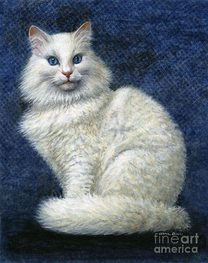 Cat Painting - Mrs. Moon by Jane Bucci