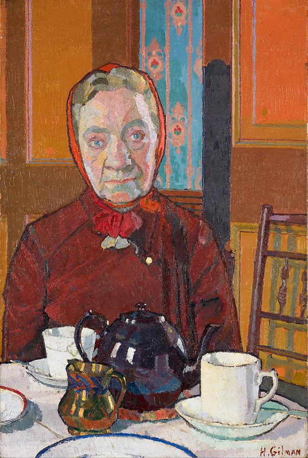 Mrs Mounter Painting By Harold Gilman