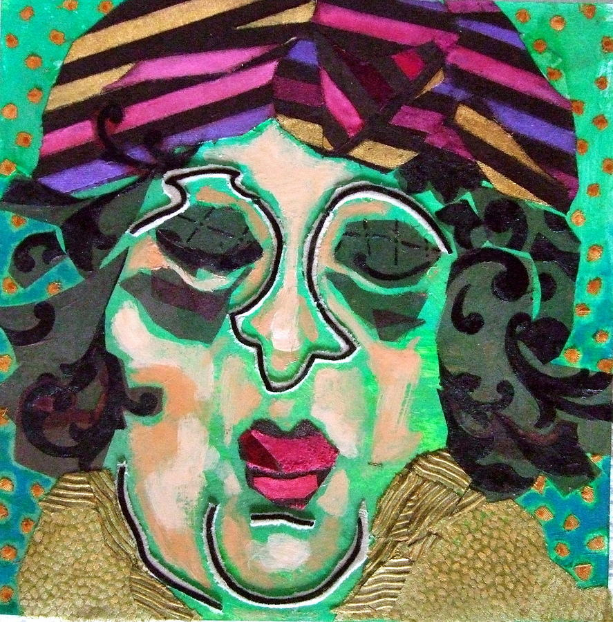 Mixed Media Collage Mixed Media - Mrs.eisenberg by Diane Fine