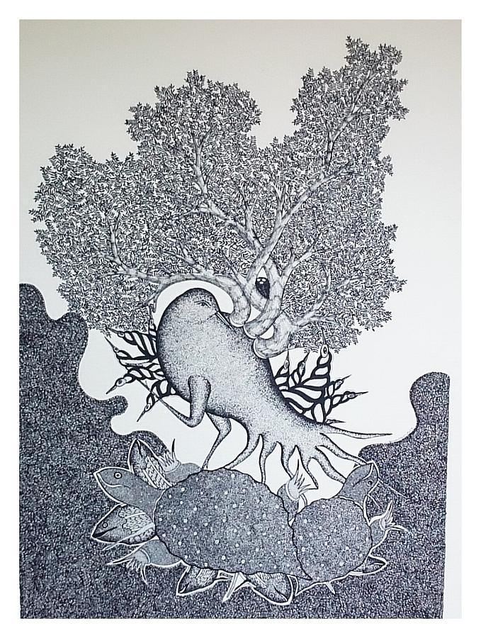 Mayank Shyam Painting - Ms 61 by Mayank Shyam