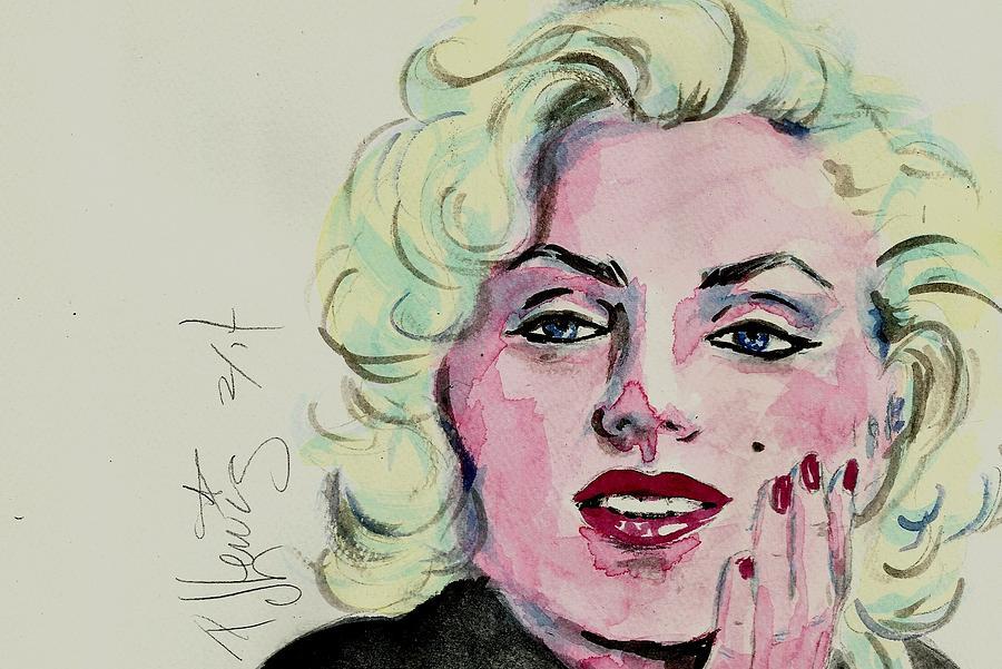 Marilyn Monroe Painting - Ms Monroe by P J Lewis