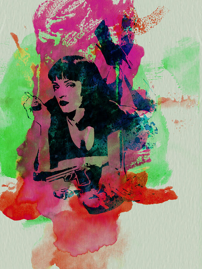 Pulp Fiction Painting - Ms Wallace by Naxart Studio